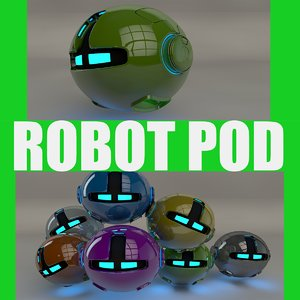 green robotic pod 3d model