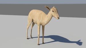 nyala antelope 3d model