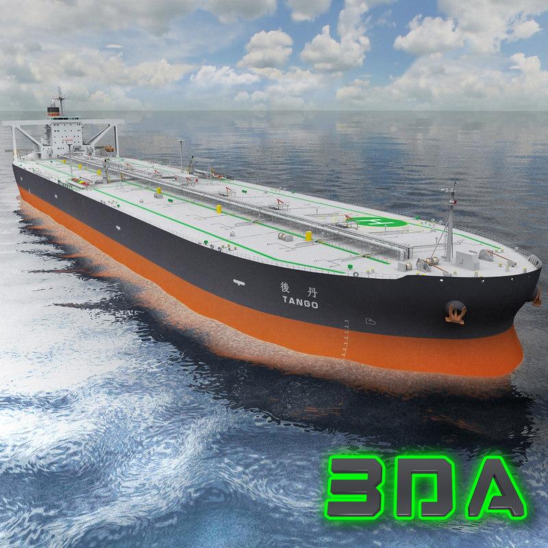 oil tanker ship 300000dwt 3d max