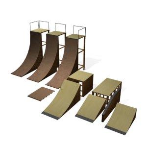 3d skate ramps model