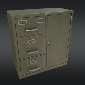 file cabinet 02 3d model