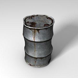 3d model rusty barrel
