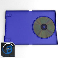 blue dvd ps2 case 3d model