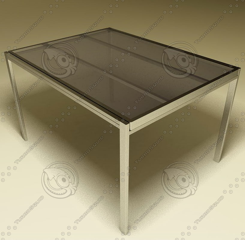 3ds kitchen living table 02