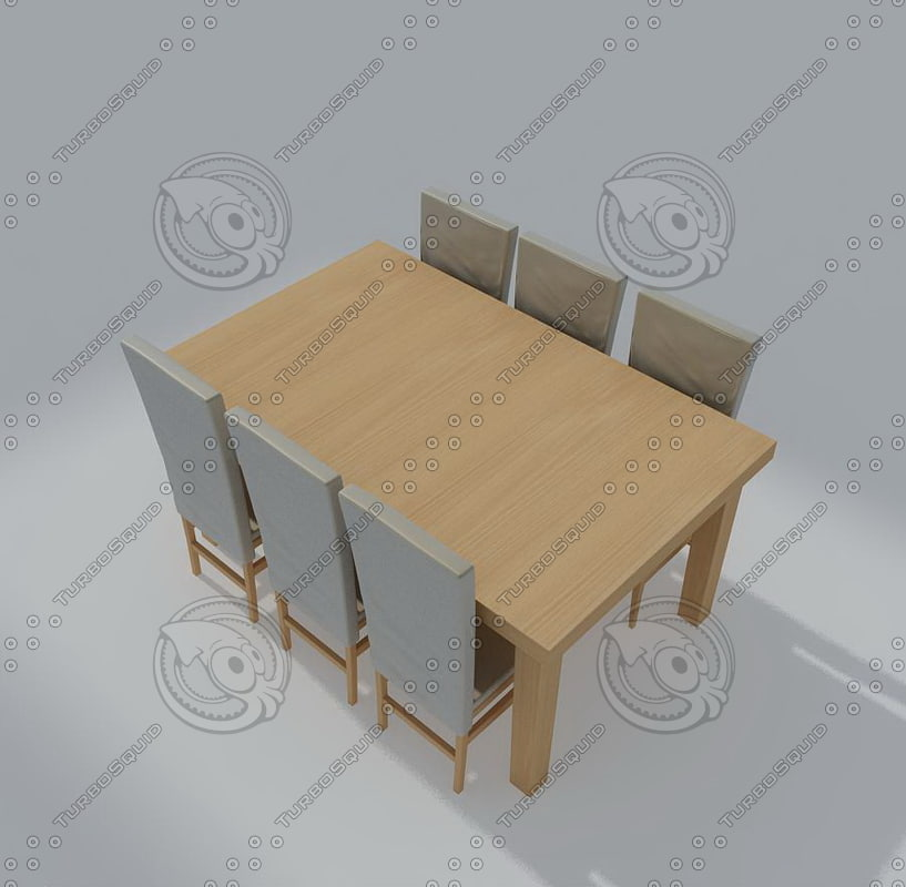kitchen living table 03 3d max
