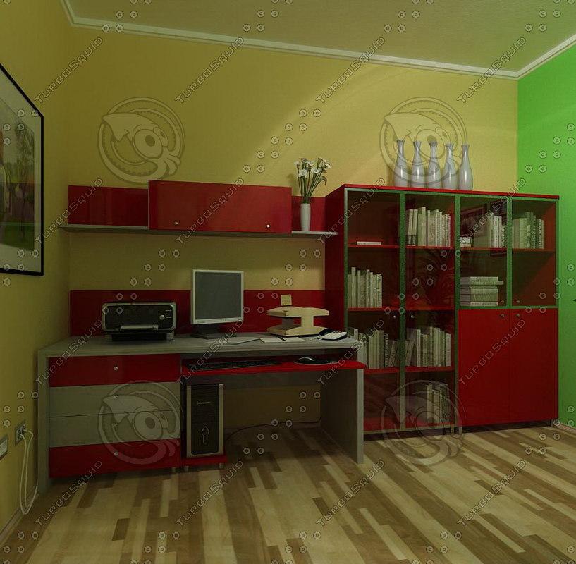office furnitures 01 3d model
