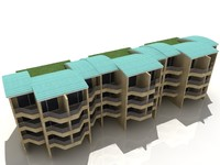 3dsmax residential colony house home