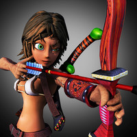 3d ma female archer