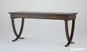 3d table v-ray wood