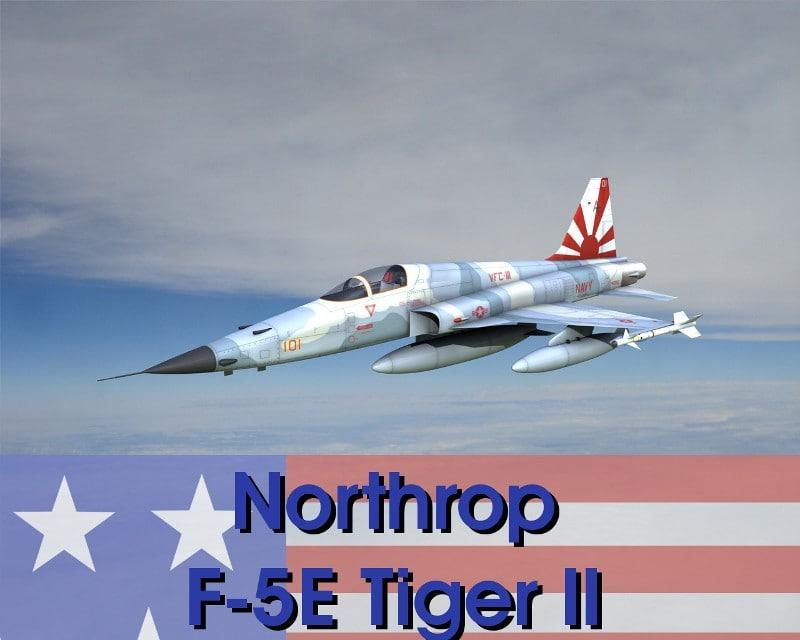 3d model northrop f-5e