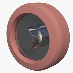 3d model wheel castor
