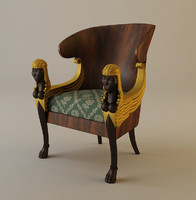 babylon chair armchair 3ds