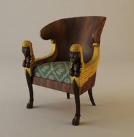 babylon chair armchair 3ds
