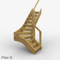 wood staircase 3d model