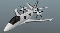 free turboprop cerrado 3d model
