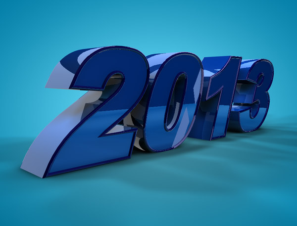 3d 2013 new year model