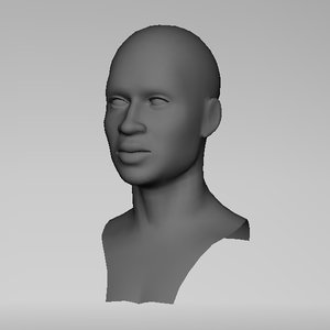 maya realistic man head