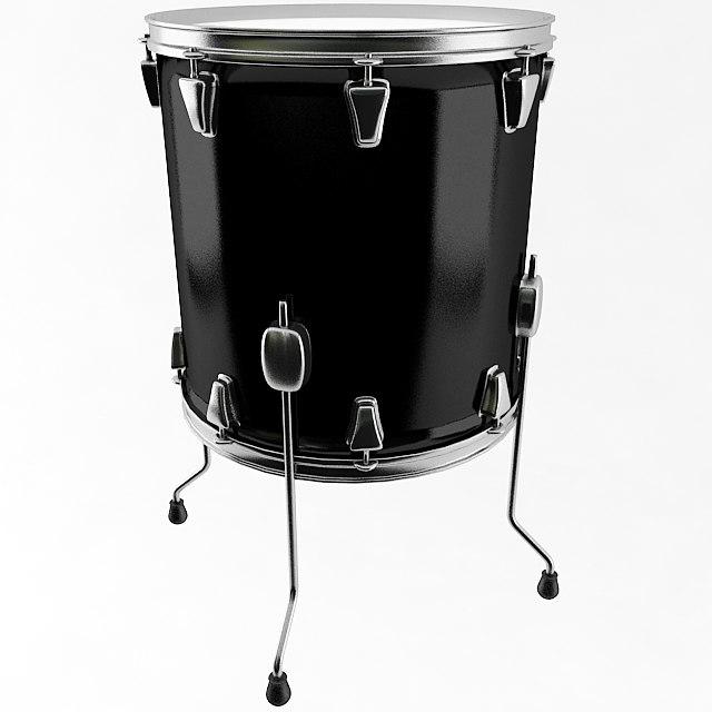 floor tom drum 3d 3ds