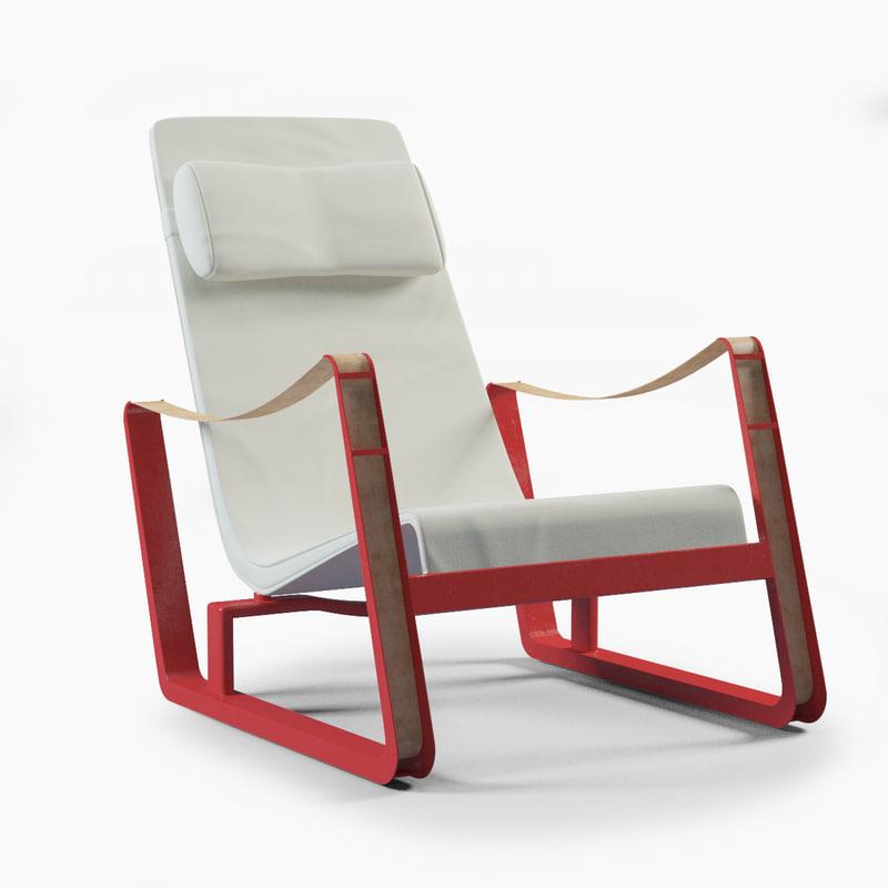 3d model prouve cite lounge chair