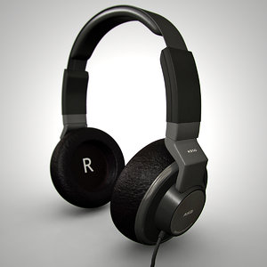 3ds max akg headphones