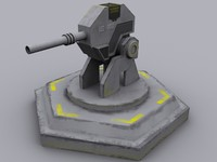 3d model light laser turret