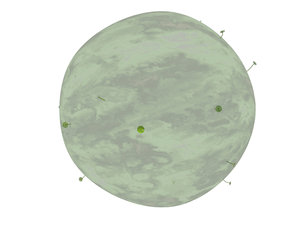 planet conceited individual 3d model