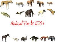 3d animal pack model