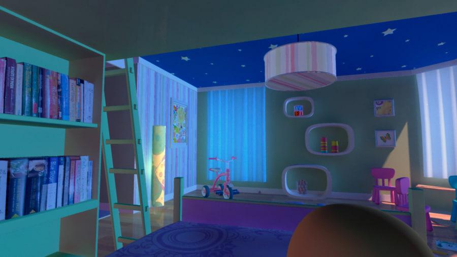 3d room baby model