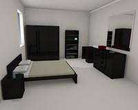 bedroom furniture 3d 3ds