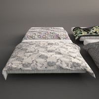 3d bed covers model