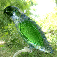 obj crystal bird figurine