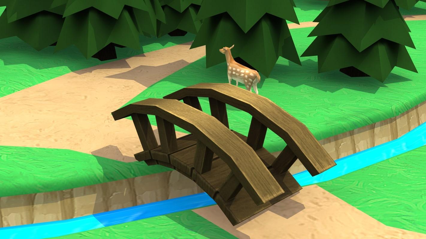 3d arched bridge model