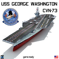 uss george washington cvn-73 3d 3ds