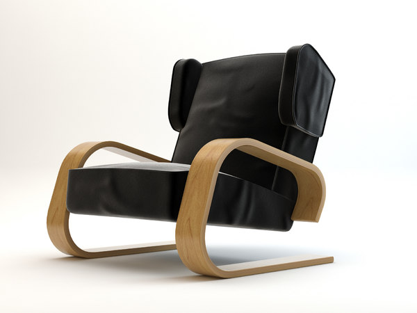 3d alvar aalto chair model