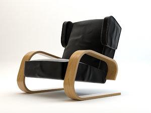 3d alvar aalto chair model