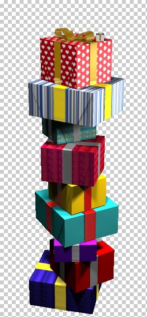 stack christmas gifts