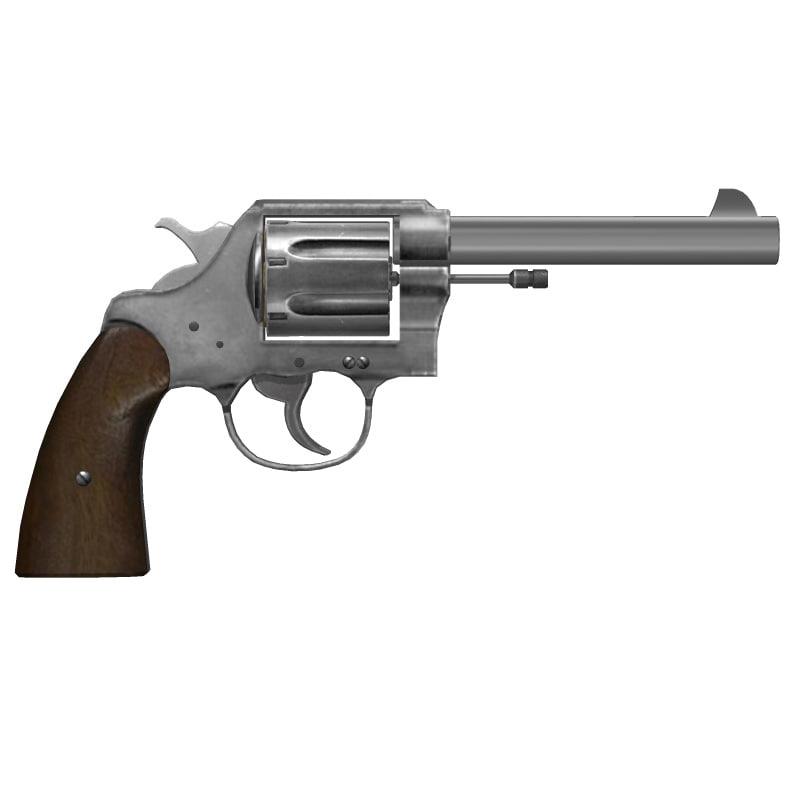 colt new service pistols 3d 3ds