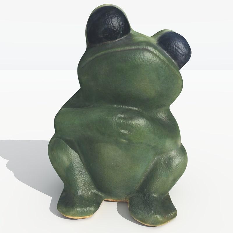 scanned frog 3d model