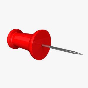 3d model of pushpin