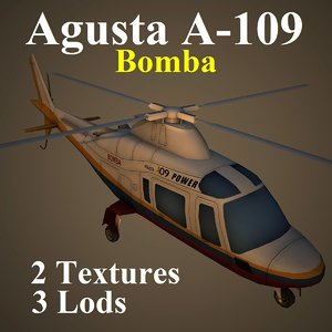 3d model agusta bom helicopter