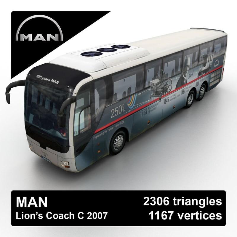 2007 man lion s 3d max