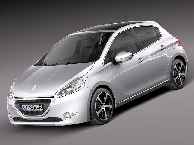 3d peugeot 208 2013 5 door model. Black Bedroom Furniture Sets. Home Design Ideas