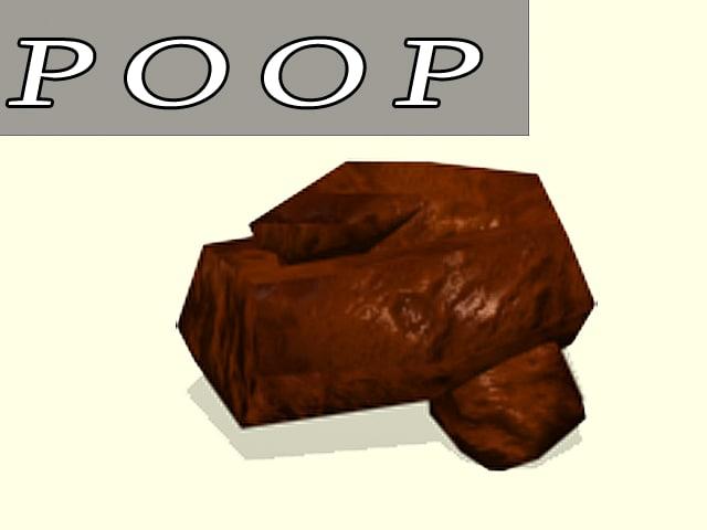 free crap dung 3d model