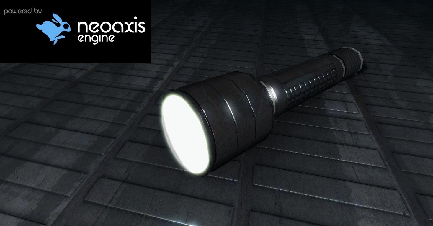 3d flashlight light flash