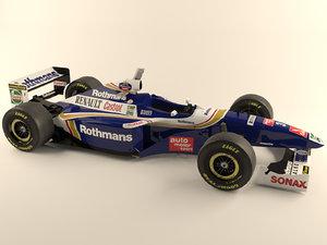1997 williams renault formula car 3d model