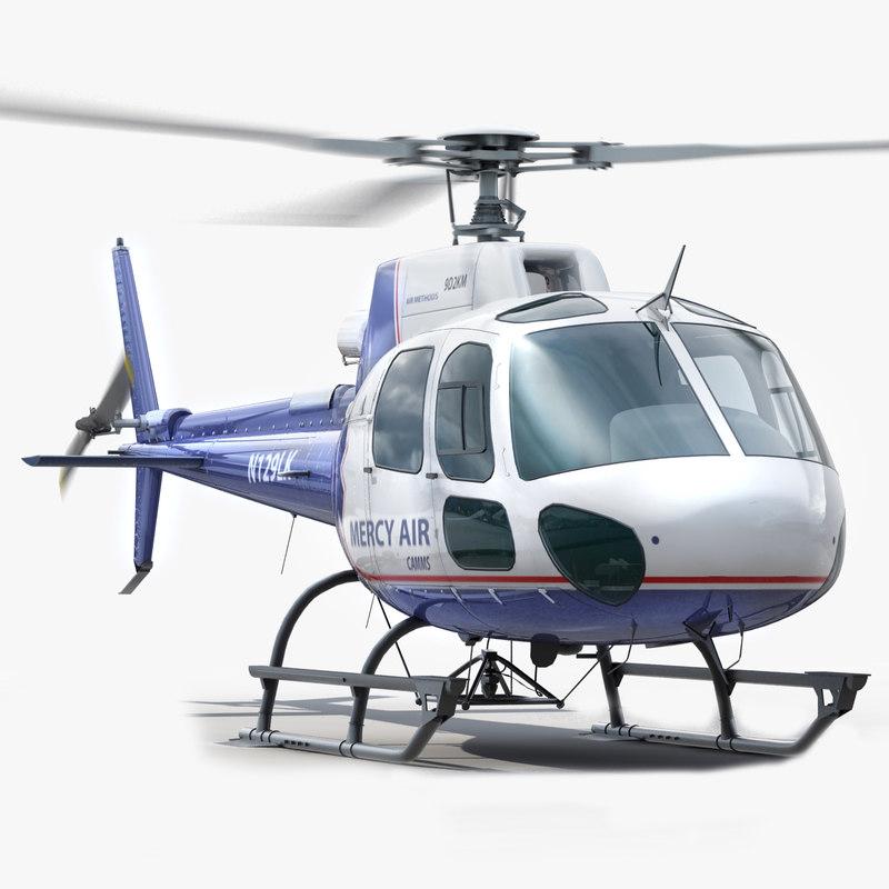 3d eurocopter interior polys