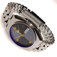 seiko 5 wrist watch 3d obj