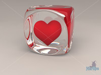 3d model glass heart valentine s