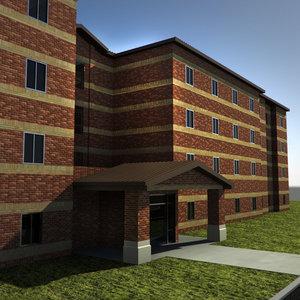 3d model brick building