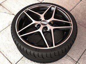 3d bbs cf wheel model